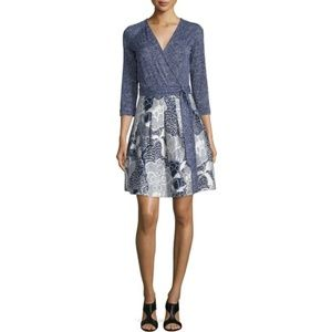 DVF Navy Wrap Jewel Dress 12